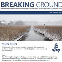 Mini newsletter mockup breaking ground
